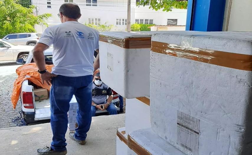 Primeiro lote de vacinas para dose de reforço é distribuído aos municípios potiguares - Foto: Reprodução/Divulgação